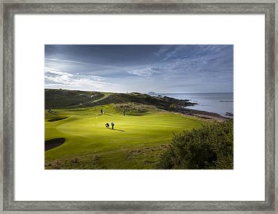 Turnberry Seascape Golf Course Framed Print