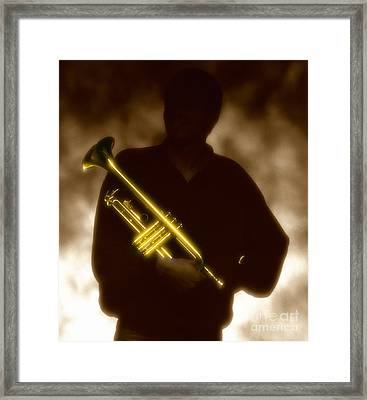 Trumpet 1 Framed Print by Tony Cordoza