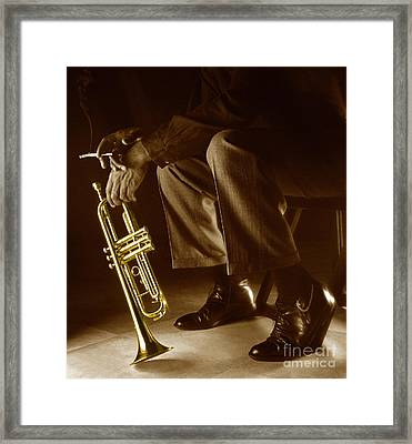 Trumpet 2 Framed Print by Tony Cordoza