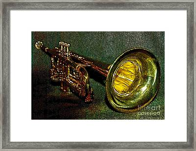 Trumpet - 20130111 Framed Print by Wingsdomain Art and Photography
