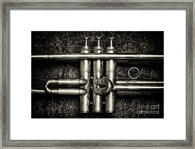 Trumpet Abstract Framed Print by Tim Gainey