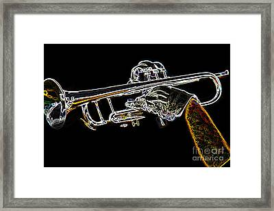 Trumpet Day Glow Framed Print by Tom Gari Gallery-Three-Photography