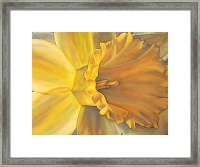 Trumpet Of Spring Framed Print by Sandy Haight
