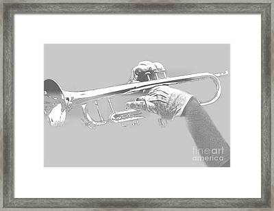 Trumpet Pencil Framed Print by Tom Gari Gallery-Three-Photography