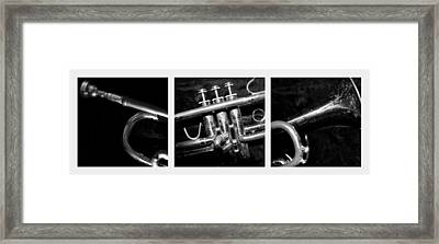 Trumpet Triptych Framed Print by Photographic Arts And Design Studio