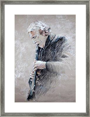 Trumpetist Flamenco Framed Print