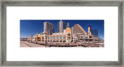 Trumps Taj Mahal Casino Framed Print by Panoramic Images