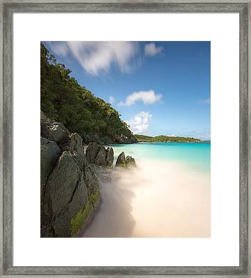 Trunk Bay At St. John Us Virgin Islands Framed Print
