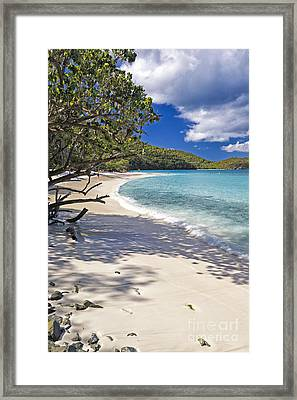 Trunk Bay Seclusion Framed Print by George Oze