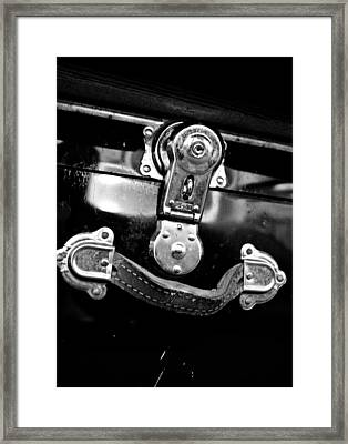 Framed Print featuring the photograph Trunk Latch by Adria Trail