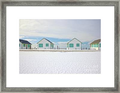 Truro Cottages Framed Print by Amazing Jules