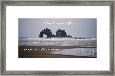 Trust In God Framed Print by Sharon Elliott