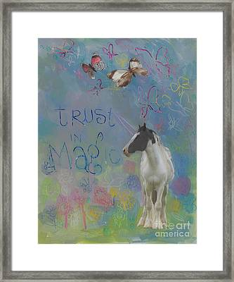 Trust In Magic Framed Print by Kimberly Santini