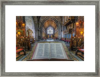 Trust In The Lord Framed Print by Ian Mitchell