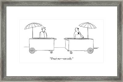 Trust Me - Sex Sells Framed Print