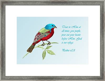 Trust  Psalms 62v8 Framed Print by Linda Phelps