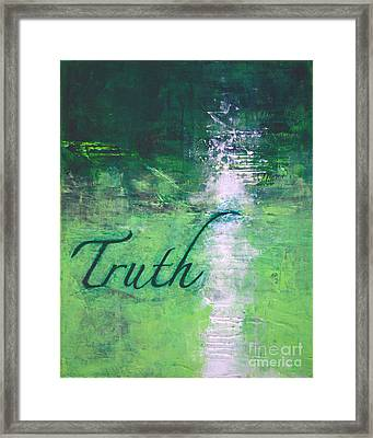 Truth - Emerald Green Abstract By Chakramoon Framed Print by Belinda Capol