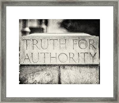 Truth For Authority Lucretia Mott  Framed Print by Lisa Russo