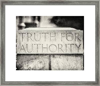 Truth For Authority Lucretia Mott  Framed Print by Lisa Russo