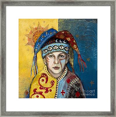 Truth Jester Framed Print by Diane Soule