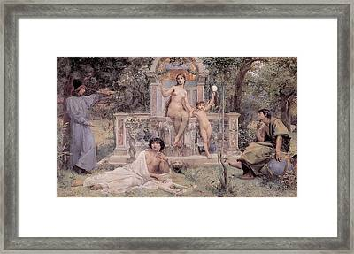 Truth Framed Print by Luc Olivier Merson