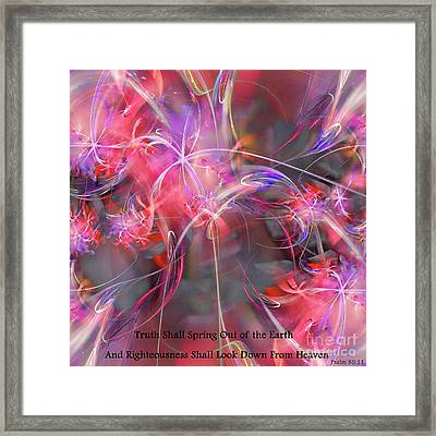 Truth Shall Spring Out Framed Print by Margie Chapman
