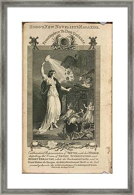 Truth With Her Mirror Framed Print by British Library