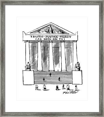 'truth�justice�mercy Framed Print by Mischa Richter