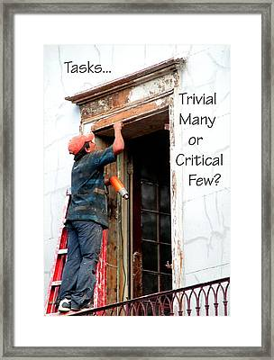 Trvial Many Or Critical Few 21159 Framed Print by Jerry Sodorff