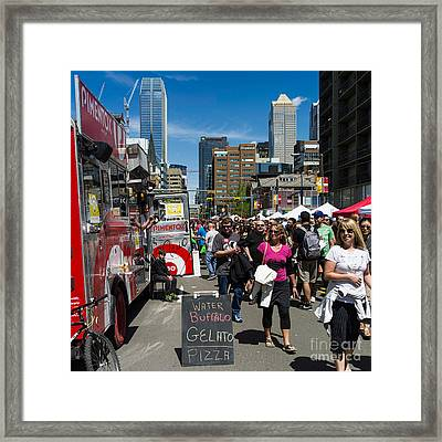 Try The Water Buffalo Gelato Framed Print by Royce Howland
