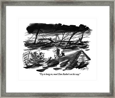 Try To Hang Framed Print