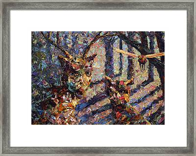 Tryst Framed Print by James W Johnson