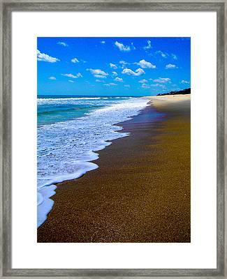 Tryst Land Water Sky Framed Print by Christy Usilton