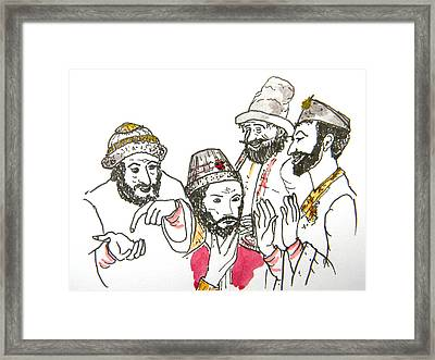 Tsar And Courtiers Framed Print by Marwan George Khoury