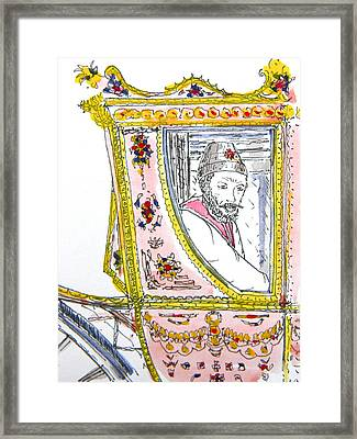 Tsar In Carriage Framed Print