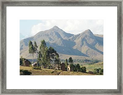 Tsaranoro Mountains Madagascar 1 Framed Print by Rudi Prott