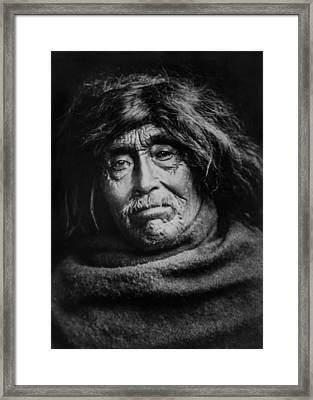 Tsawatenok Indian Man Circa 1914 Framed Print by Aged Pixel