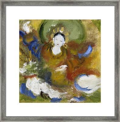 Tseringma Framed Print by Alma Dankoff