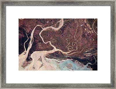 Tsiribihna River Framed Print