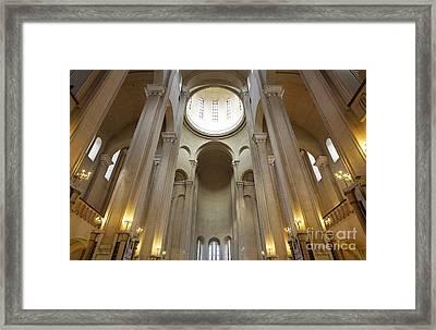 Tsminda Sameba Cathedral Interior Tbilisi Georgia Framed Print by Robert Preston