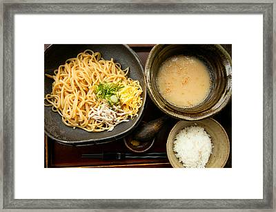 Framed Print featuring the photograph Tsukemen by Brad Brizek