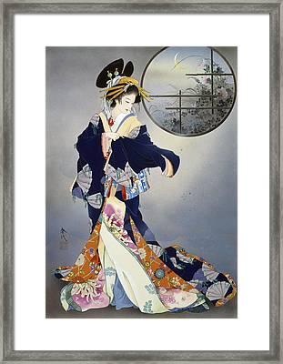 Tsukiakari Framed Print by Haruyo Morita