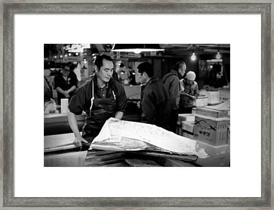 Tsukiji Tokyo Fish Market Framed Print by Sebastian Musial