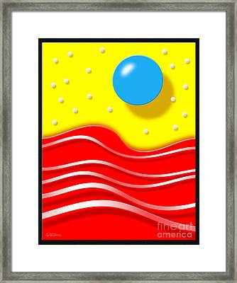 Framed Print featuring the digital art Tsunami 2 by Cristophers Dream Artistry