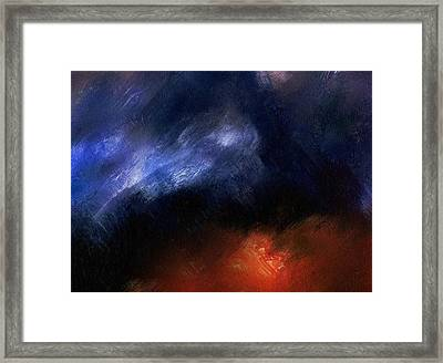 Tsunami Abstract Framed Print by Georgiana Romanovna