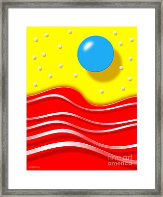 Framed Print featuring the digital art Tsunami by Cristophers Dream Artistry