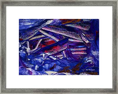 Tsunami Framed Print by Dick Bourgault