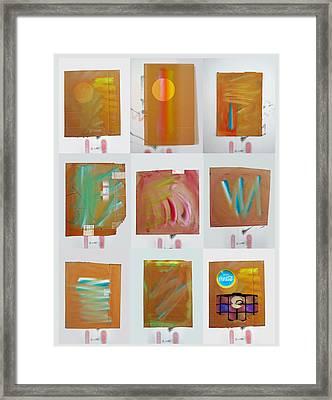 Tsunami Quilt Framed Print by Charles Stuart
