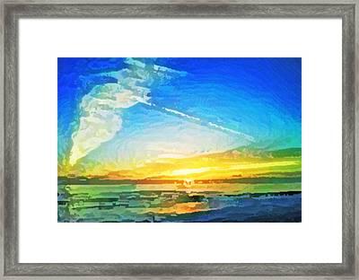 Tsunami Sunset Framed Print