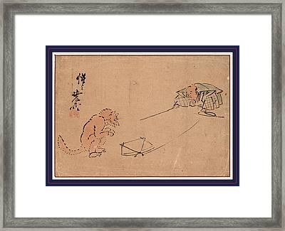 Tsuri Gitsune, The Kyogen Performance Tsurigitsune Framed Print